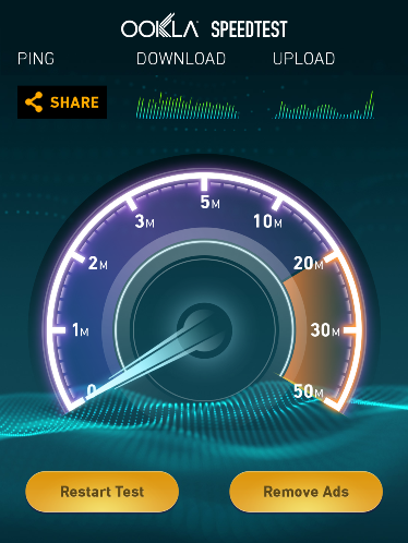 Click to open Ookla Speed Test
